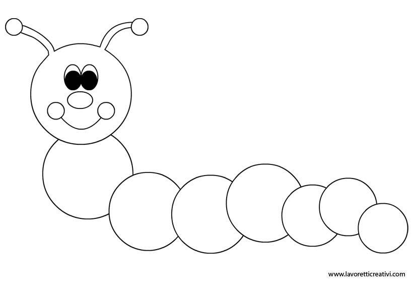 disegni da colorare per bambini bruco
