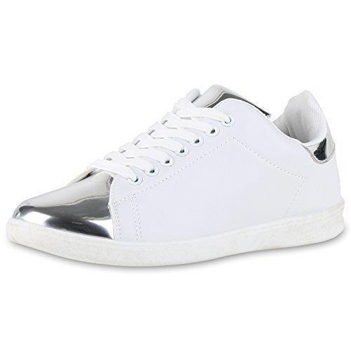 Dalliy - Cordones de zapatos de Lona hombre, color blanco, talla 40 EU