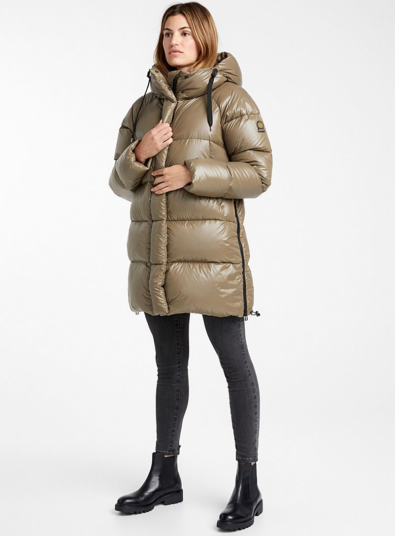Kiruna shiny down puffer jacket in 2019 | Jacken, Daunen