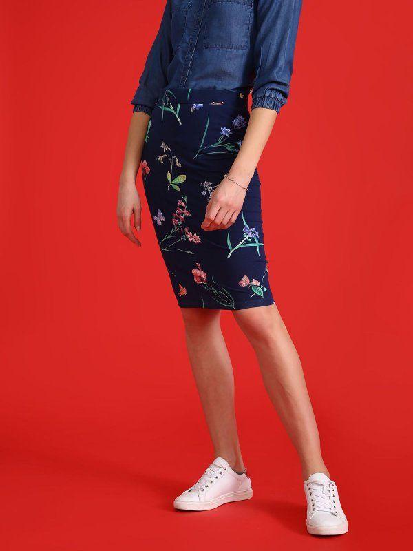 Sportowe Buty Do Olowkowej Spodnicy Mnie Sie Podoba Spodnica Regularna Damska Dlugosc Regularna Granatowa Ssd1093 Top Secret Skirts Fashion Pencil Skirt