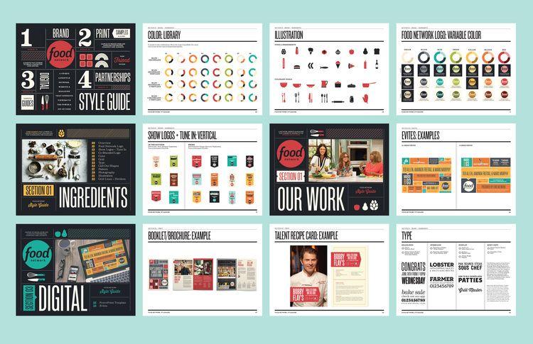 FOOD NETWORK AD SALES STYLE GUIDE   Art direction: Alanna Siviero Design: Gretel NY