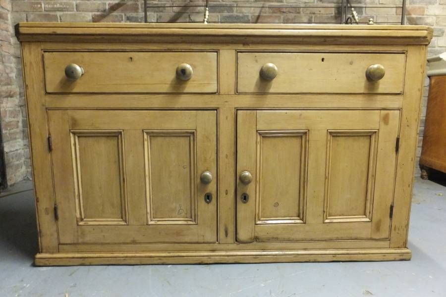 Antique Pine Dresser Base Georgian In Cupboards Bases From The