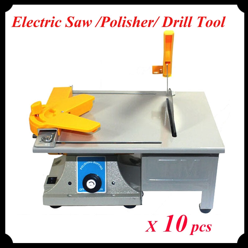 911.00$  Buy here - http://aligno.worldwells.pw/go.php?t=32563171554 - 10pcs/lot Multi-Functional Electric Grinder / Polisher / Drill / Saw Tool 350w 10000 R/Min Mini Bench Lathe Machine  911.00$