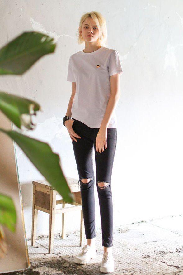 Black Skinny Rip Jeans
