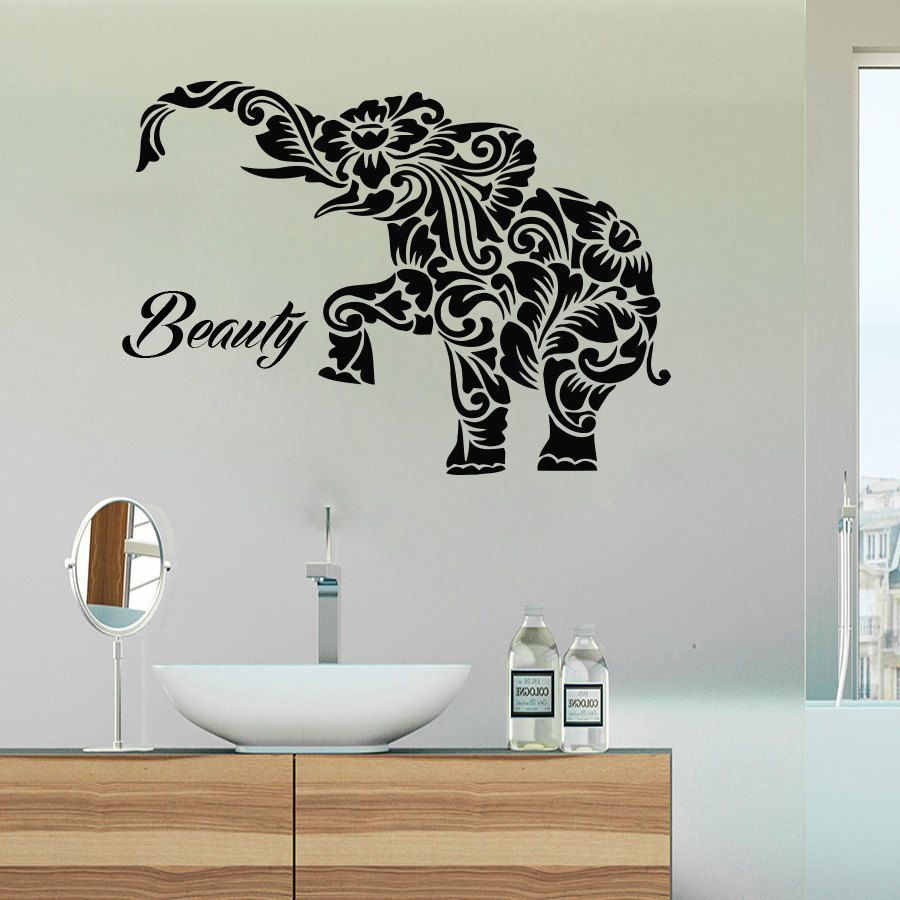 Beauty Salon Wall Decals Elephant Vinyl Decals Home Decoration - How to make vinyl decals at home