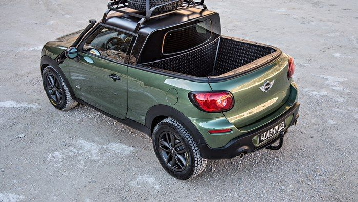 mini paceman transformed into a mini pickup truck concept. Black Bedroom Furniture Sets. Home Design Ideas