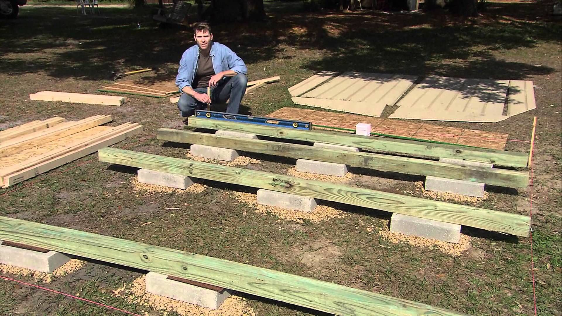 Having a level foundation for a storage shed is essential