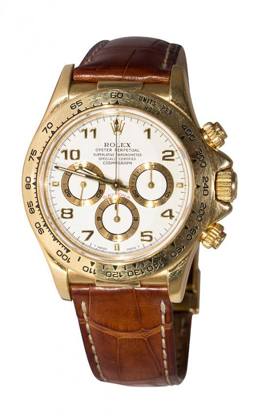 e6c9554e019 Gentleman s Rolex Daytona cosmograph 18k yellow gold   Lot 6866 ...