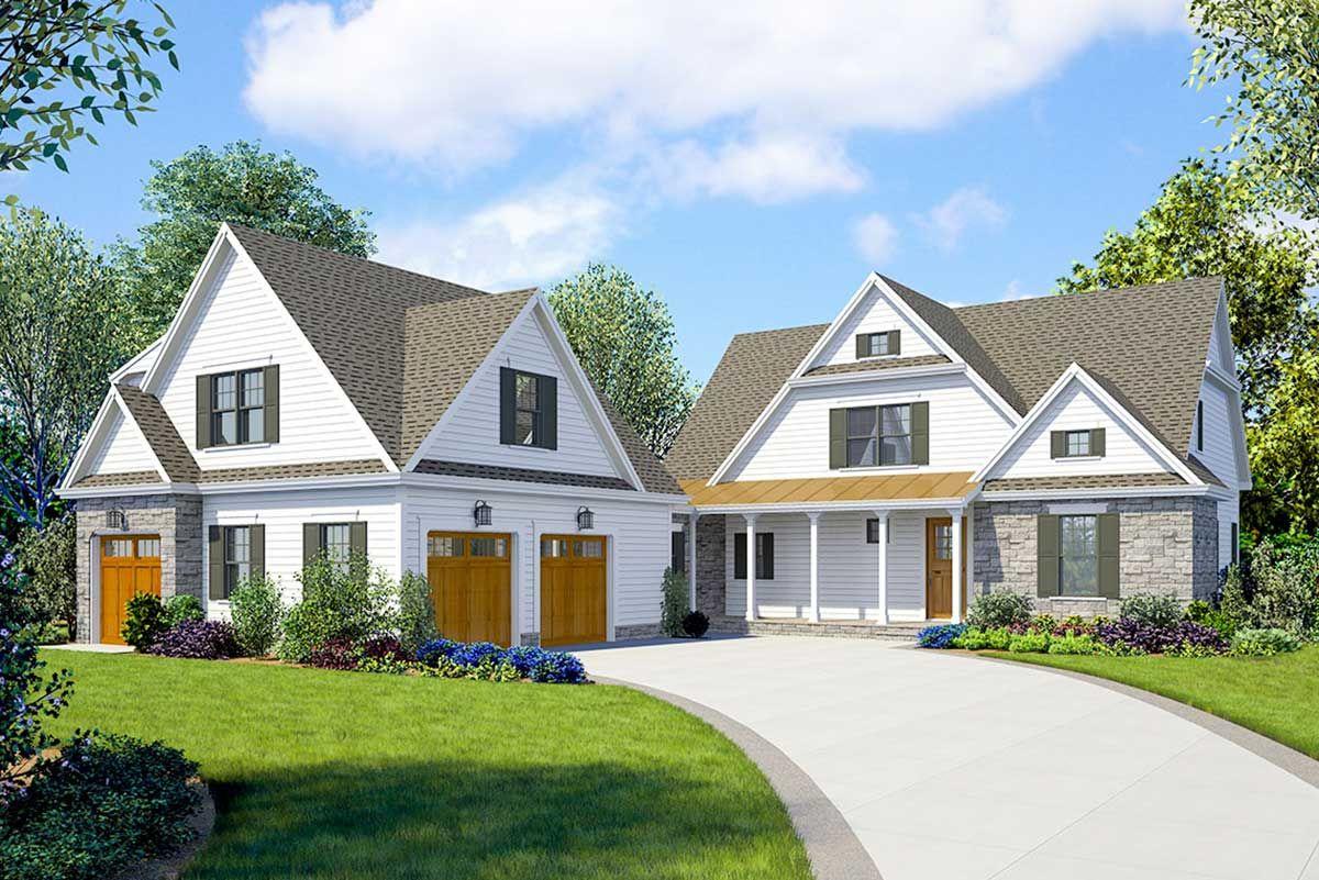 Plan 23771jd Striking 4 Bed Farmhouse Plan With Walk Out Basement Farmhouse Plans Basement House Plans House Plans Farmhouse