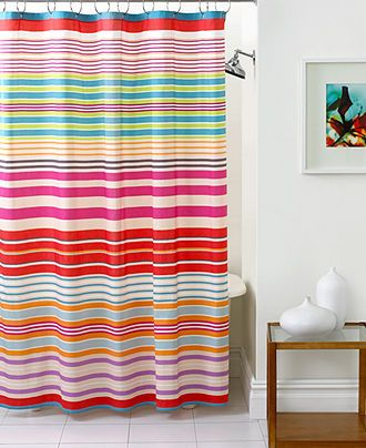 Echo Bath Accessories Endless Stripe Shower Curtain Shower