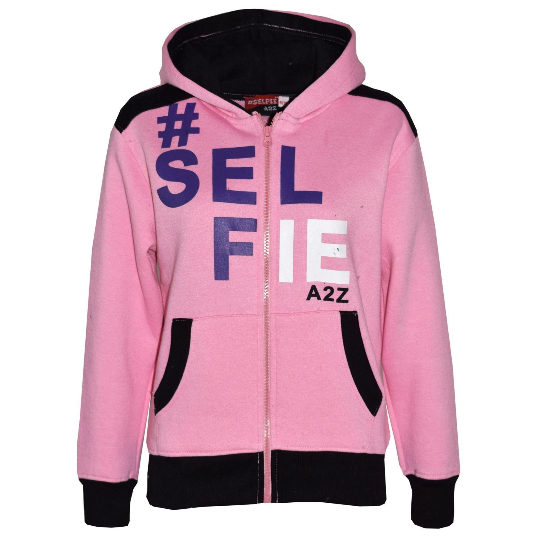 0a92fc588477 Kids Girls Boys Designer #Selfie Jogging Suit Hooded Tracksuit Tops Joggers  7-24.