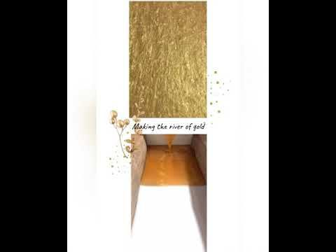 River of gold #liveedgerivertable #resinpour - YouTube
