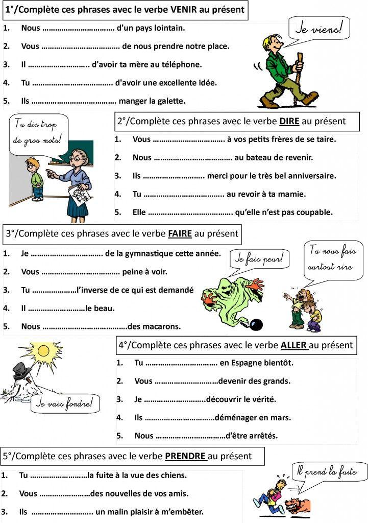 Faire De La Grammaire Ce1 Ce2 Année 1 : faire, grammaire, année, Conjugaison, Monsieur, Mathieu, Exercice, Francais, Exercices