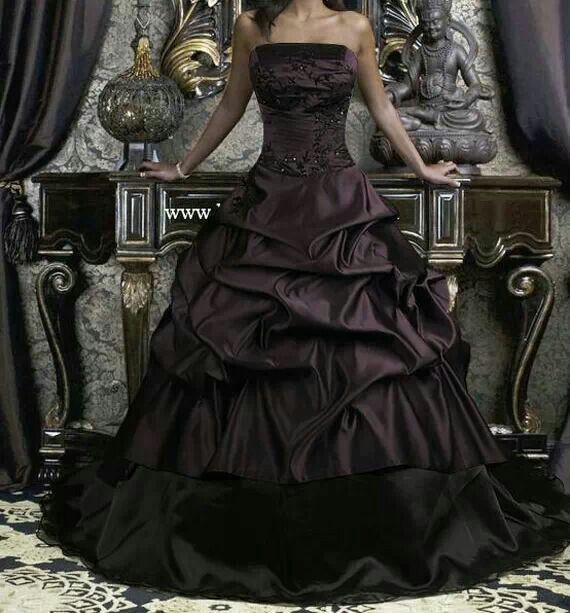 Purple Black Wedding Dress Goth Wedding Dresses Halloween