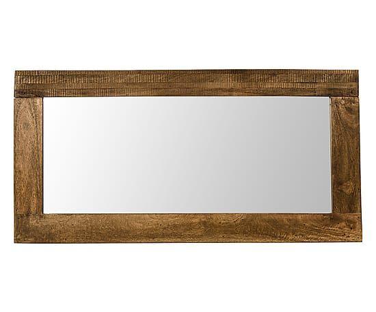 Specchio in mango Jamila naturale - 120x60x5 cm