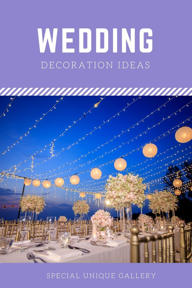 Latest wedding decoration images  Decorate A Personus Wedding Dinner With The Help Of These Latest