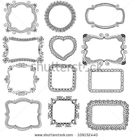 hand drawn frames stock vector 109152440 shutterstock - Drawing Frame