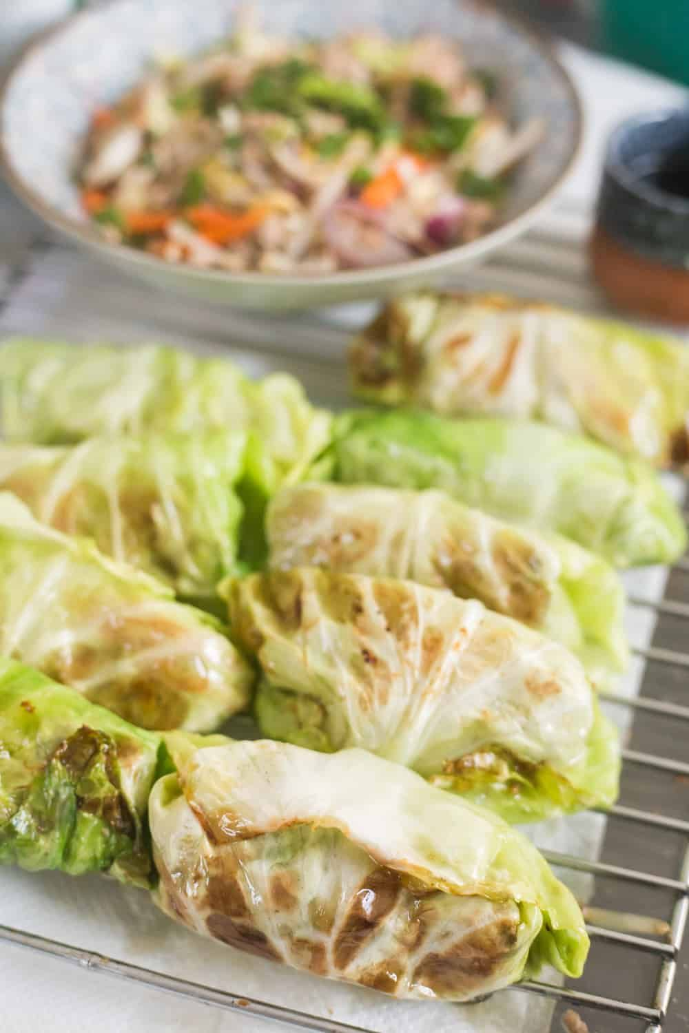 Keto Egg Roll (In a Bowl or Wrap) | Cabbage Rolls | The Hungry Elephant