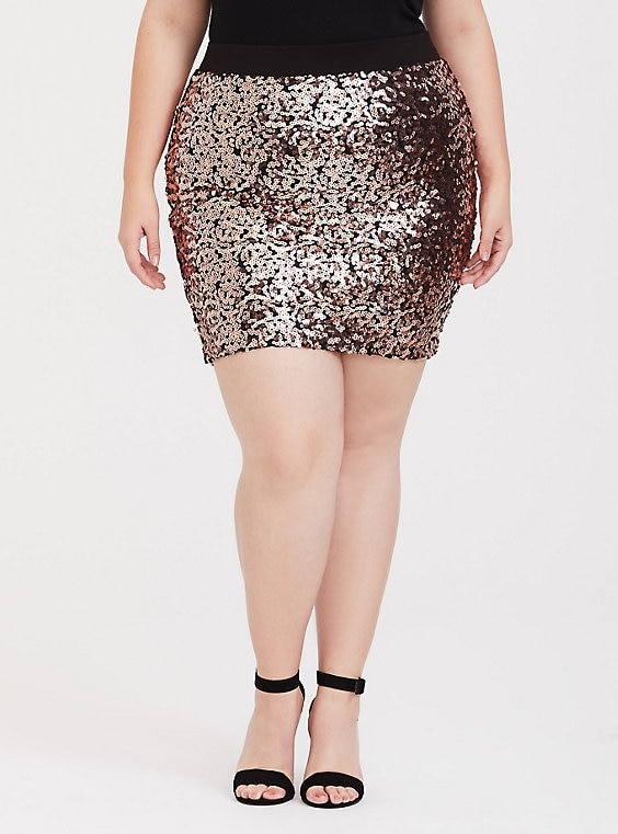 2621b7877bd7 Rose Gold Sequin Mini Skirt | Products | Sequin mini skirts, Gold ...