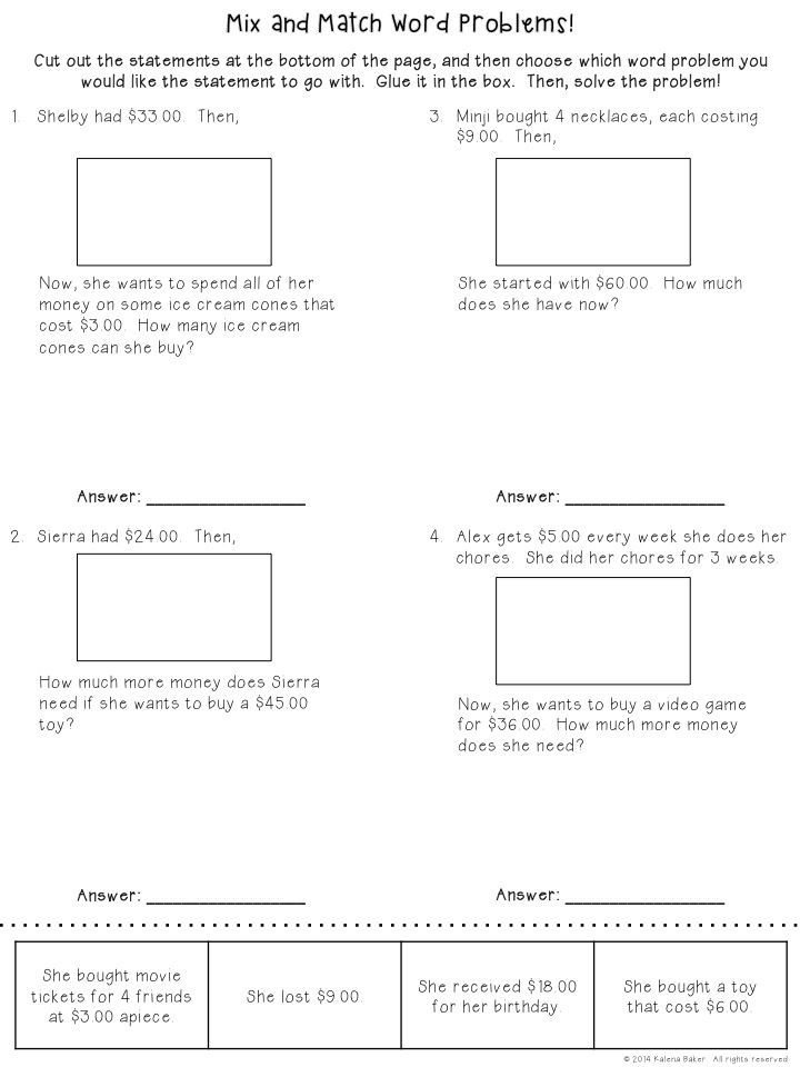 Word Problems Free Math Word Problems Word Problems Multi Step Word Problems