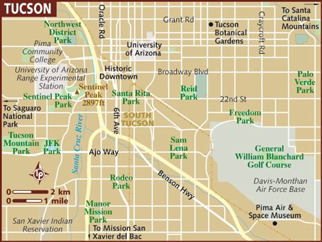 image about Printable Map of Tucson Az identified as This is a map of the town of Tucson Tucson Tucson