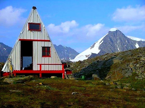 Tiny A-frame Cabin in the Mountains
