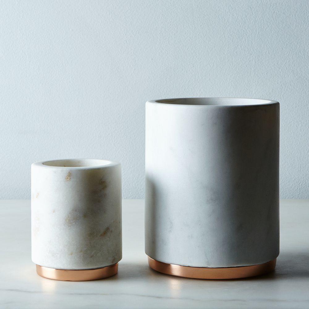Marble & Copper Canister on Food52 | desk | Pinterest