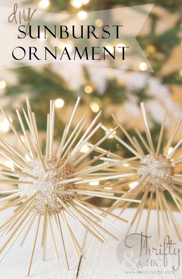 Diy Sunburst Ornament Best Of Thrifty And Chic Diy