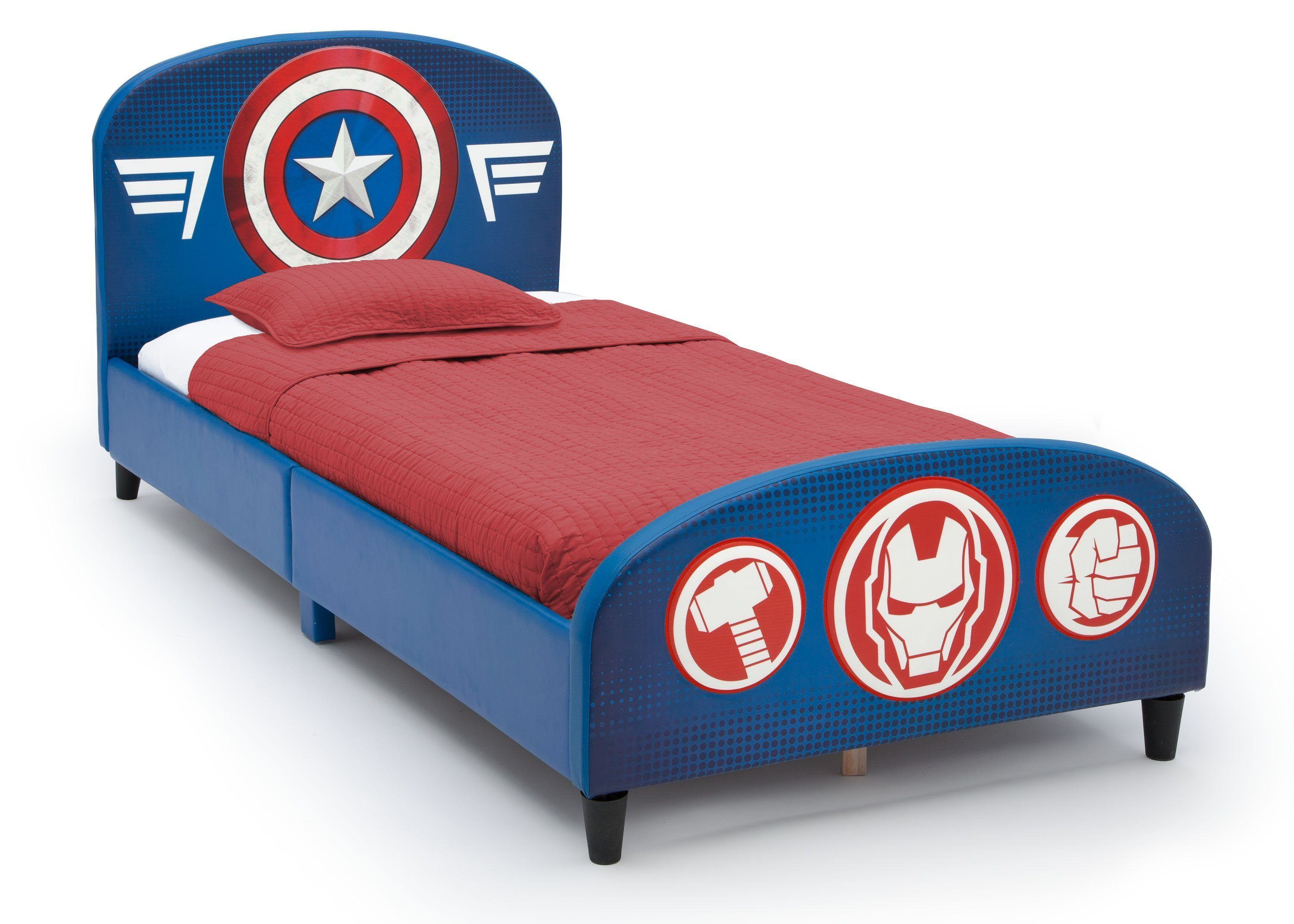 Avengers Upholstered Twin Bed Delta Children Twin Bed Kids