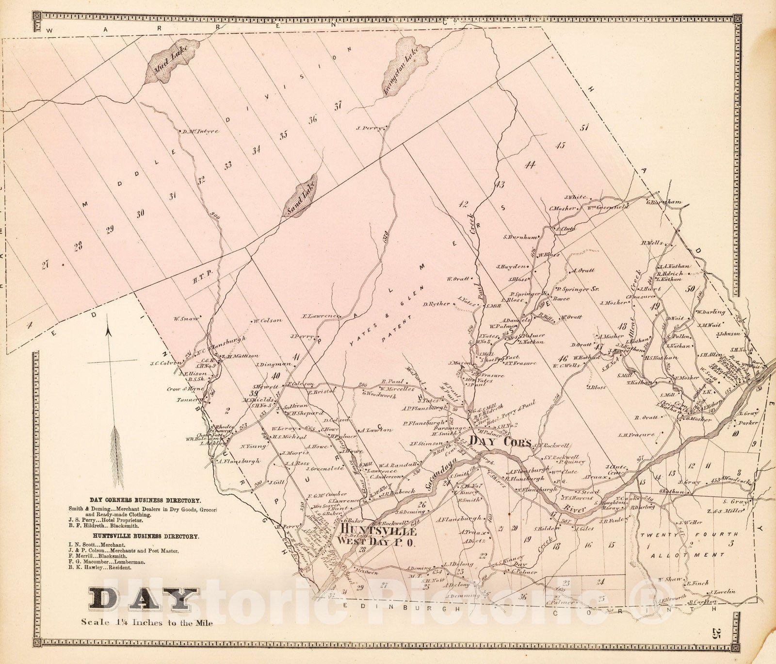 <p>1866 Day, Saratoga County, New York.</p>