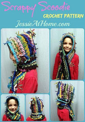 """Scrappy-Scoodie-Crochet-Pinterest --> Helppo huppu jämälangasta. """"Tavallisesti"""" toteutettuna vaikka itselle!"""