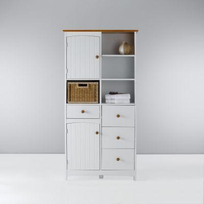 meuble colonne double de salle de bains finch blanc/miel prix 3