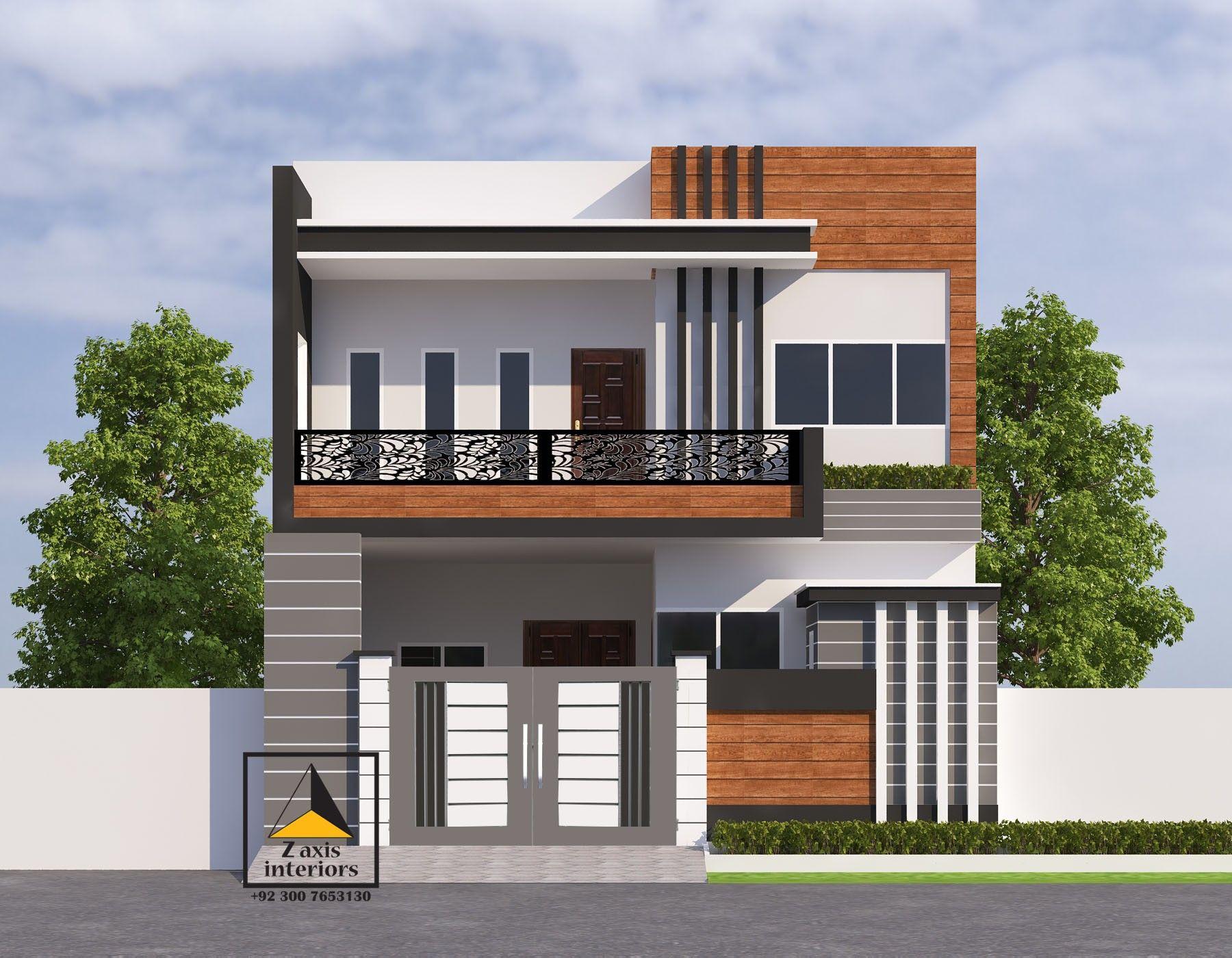 House Front Elevation 5 Marla House Duplex House Design House Design