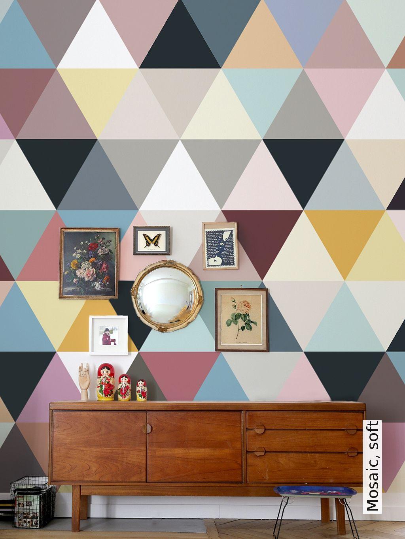 Mosaic, soft | Pinterest | Dreieck, Farbenfroh und Wandgestaltung