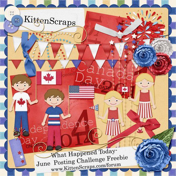 Kitten Scraps   KittenScraps Digital Scrapbooking Shoppe, Gallery and Forum.  June 2014 Posting Bonus for Layout Challenge.