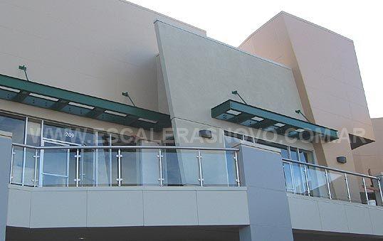 Baranda en acero inoxidable y vidrio templado mod 2 venta - Baranda de escalera ...
