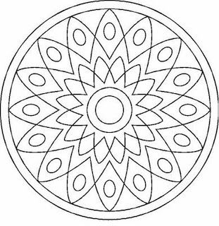 things to color coloring pages printable intricate mandala coloring pages instant download pdf - Things To Color