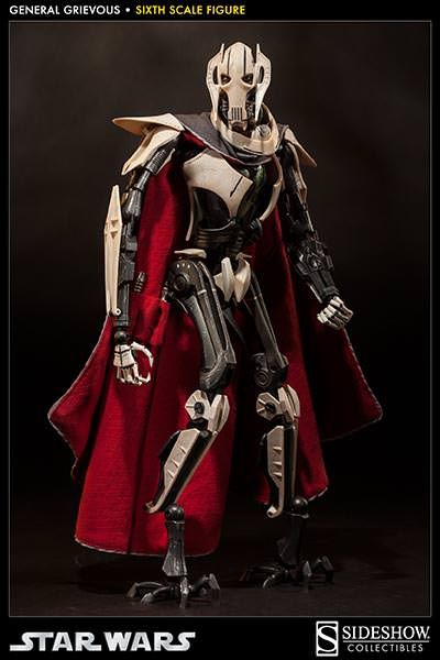 Star Wars General Grievous 1 6 Scale Figure Exclusive With Damaged Portrait Sideshow Star Wars Star Wars Action Figures Star Wars Droids