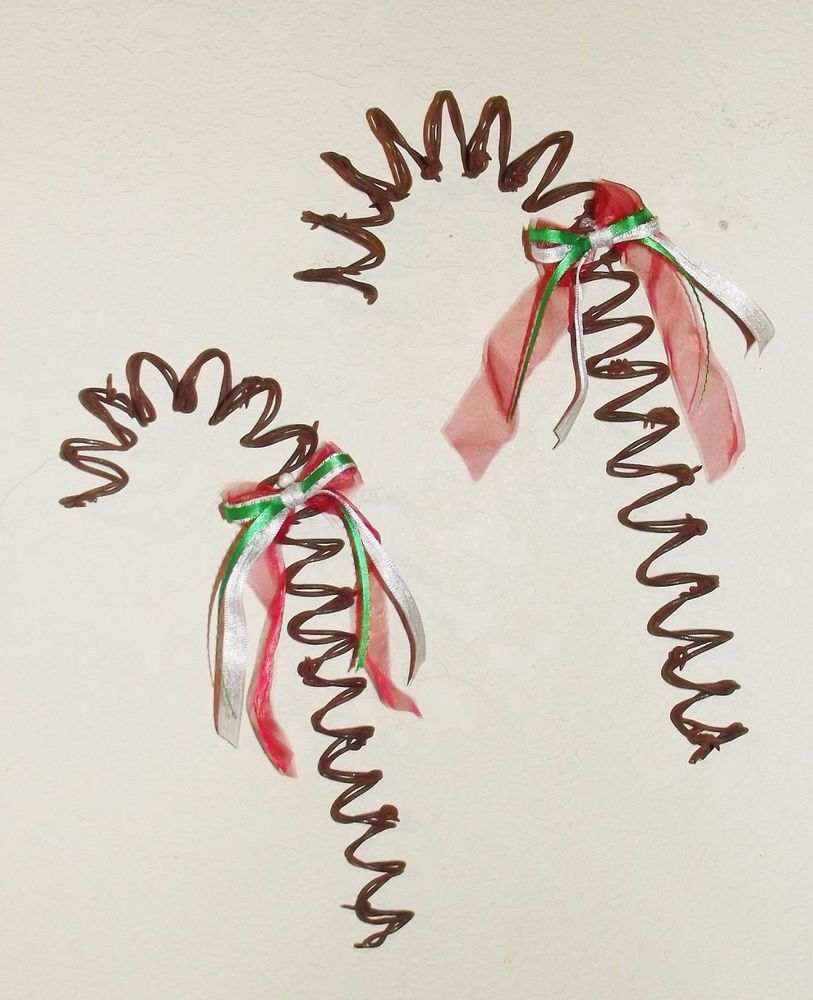 Barbed wire Candy Canes set of two Christmas rustic country prim ...