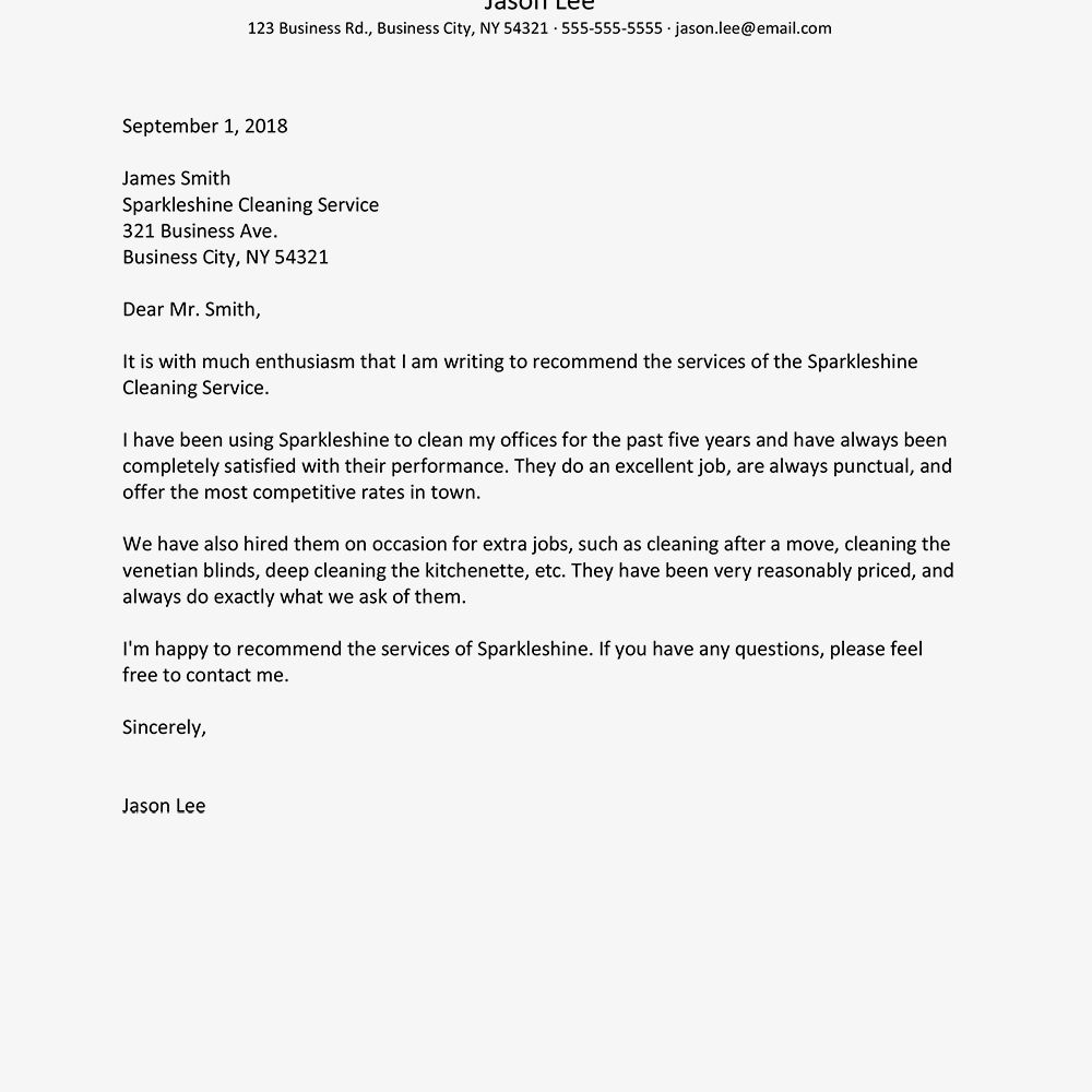 The awesome Business Reference Letter Examples Regarding
