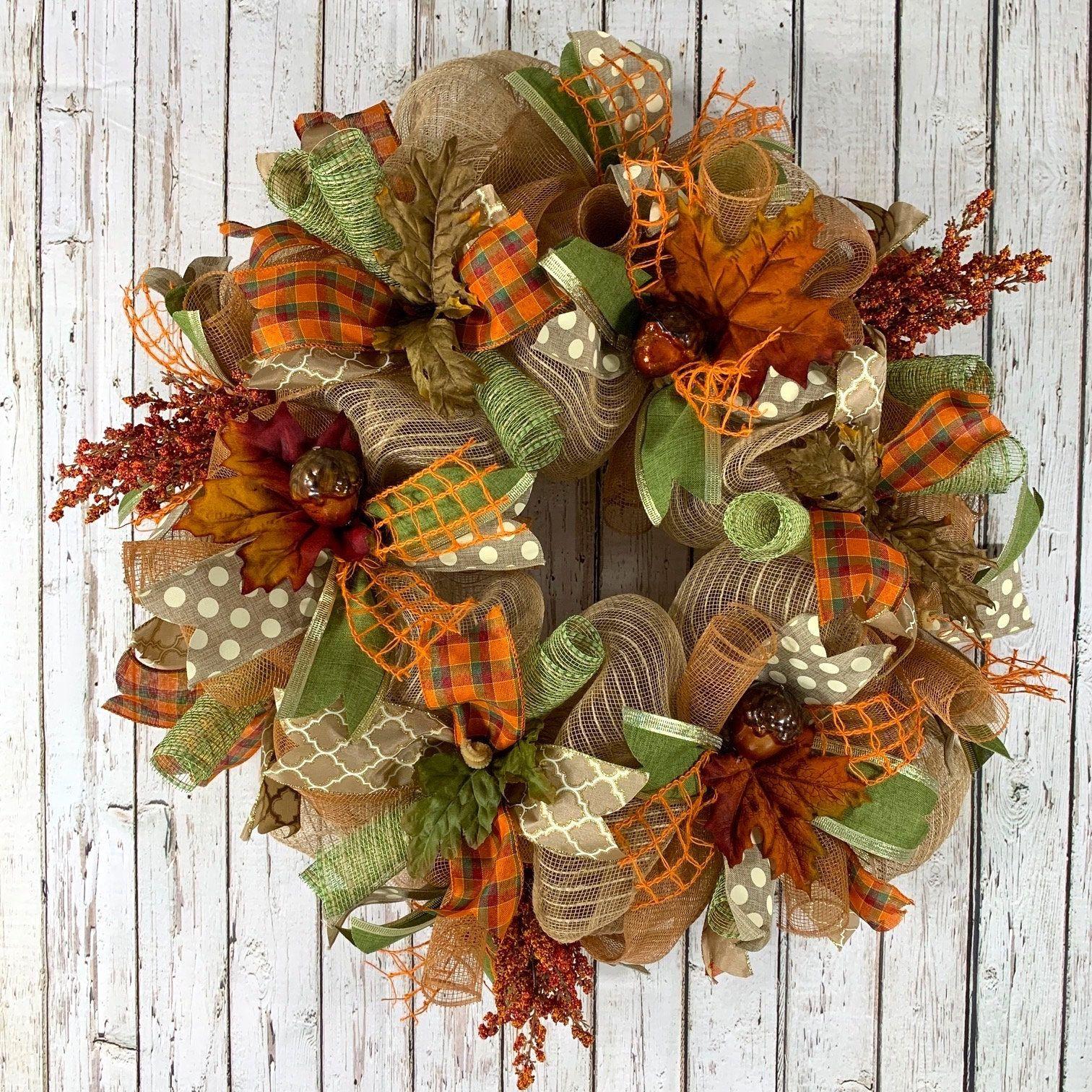 Fall Wreath With Acorns