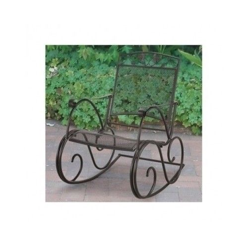 wrought iron rocking chair vintage patio swing outdoor garden