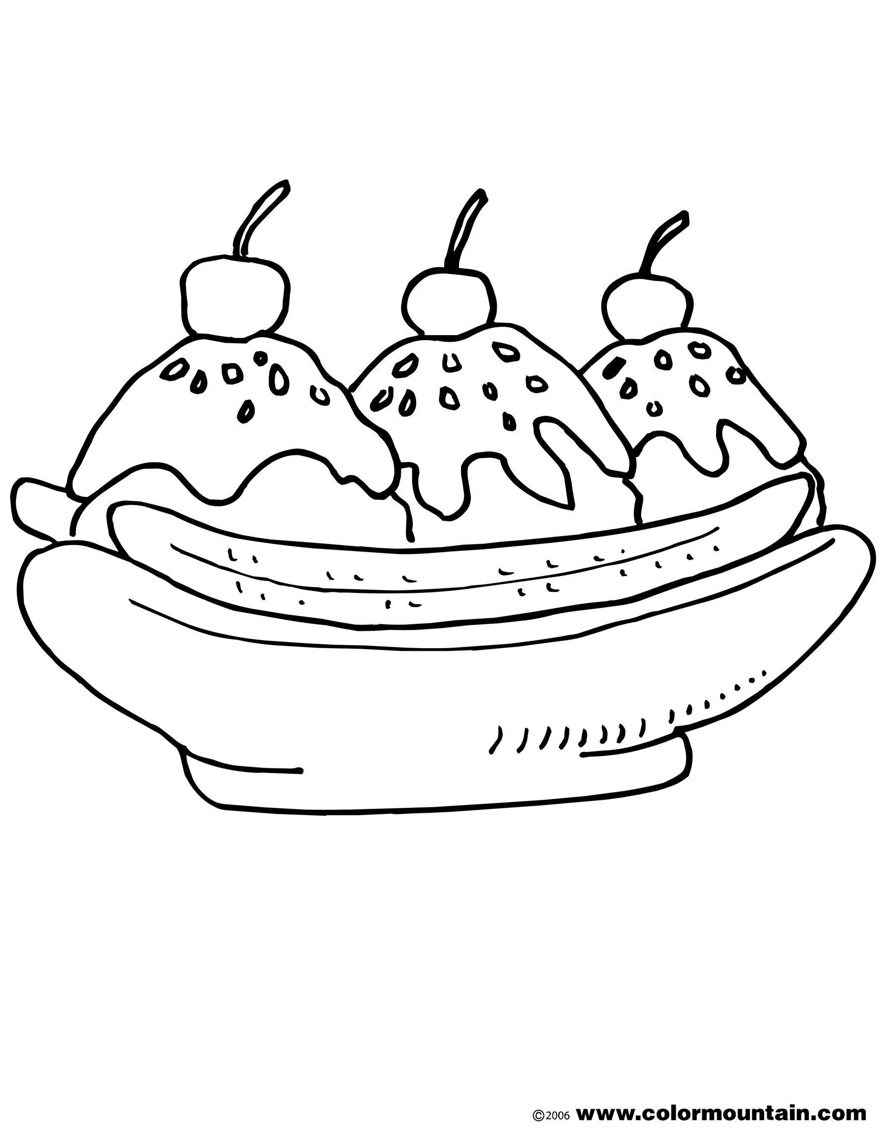Ice Cream Sundae Printable Coloring Pages Coloring Pages