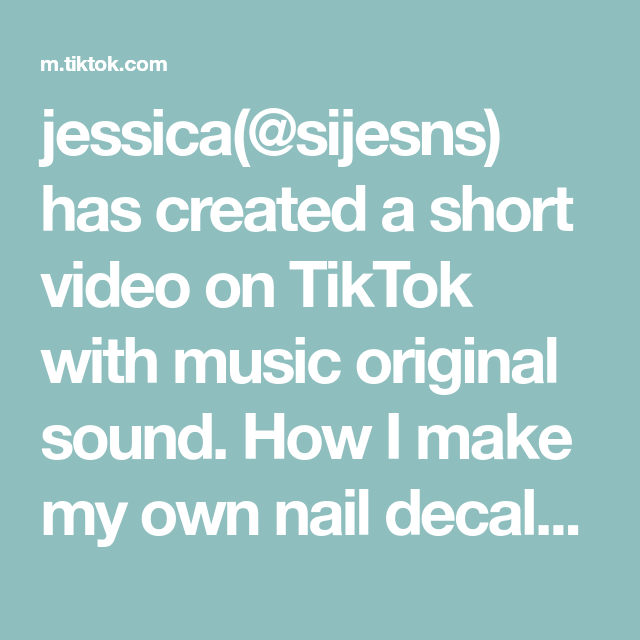 Jessica Sijesns Has Created A Short Video On Tiktok With Music Original Sound How I Make My Own Nail De Funny Marvel Memes Feeling Hot Summer Body Challenge
