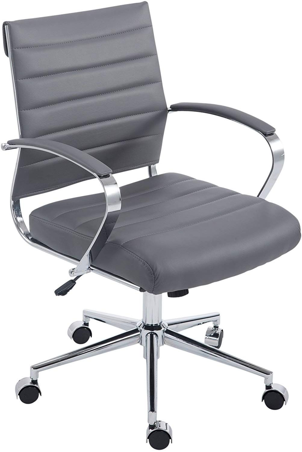 Poly And Bark Tremaine Office Chair Grey Modern Office Chair Mid Century Modern Office Chair Office Chair
