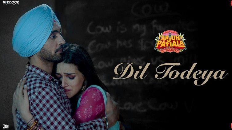 Diljit Dosanjh And Kriti Sanon Starrer Arjun Patiala Song Dil Todeya Is All About Heartbreak Arjun Patiala Diljit Dosa Diljit Dosanjh Songs Latest Movie Songs