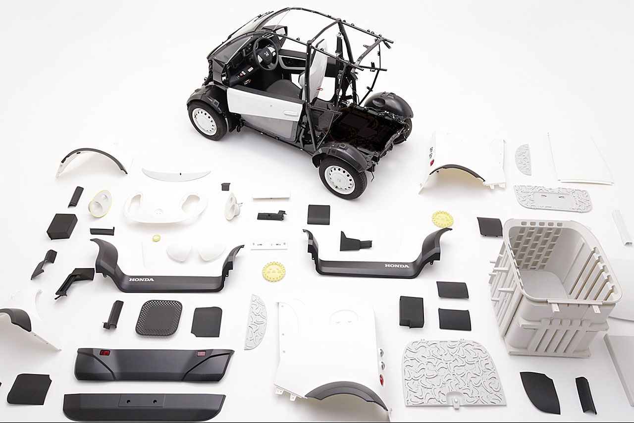 Honda and Kabuku Inc. unveil 3D Printed Micro Commuter Vehicle at CEATEC - For more information please: http://www.boxfox1.com/2016/10/honda-and-kabuku-inc-unveil-3d-printed.html