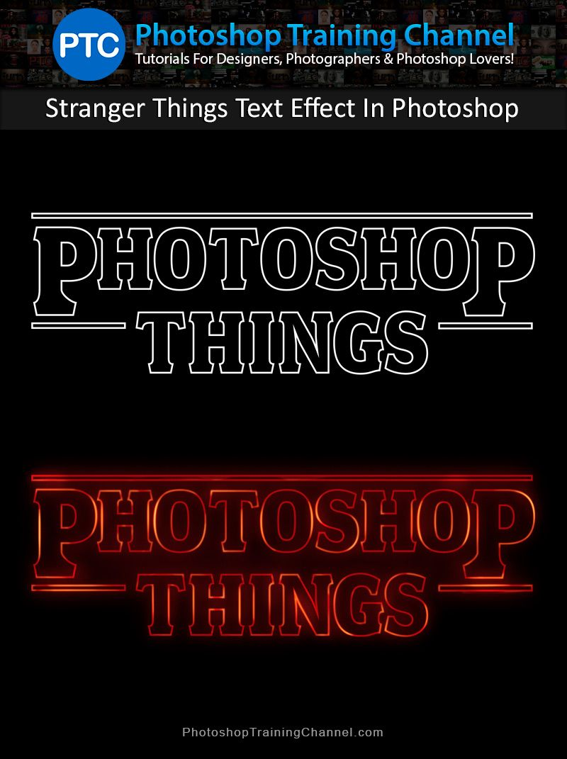 Stranger things text effect in photoshop strange things photoshop tutorial showing you how to recreate the stranger things text effect baditri Choice Image