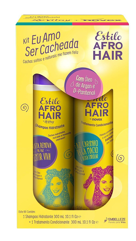 Novex Estilo Afro Hair Shampoo and Conditioner Kit (300mg