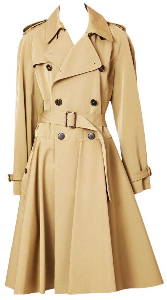 Lyst - Tommy Hilfiger Nude Long Trench Coat With Magnetic